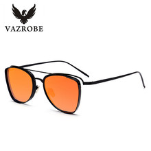 Vazrobe Clear Sunglasses Women 2017 Vintage Sun Glasses for Female Visible Lenses Square Fashion Design pink mirrored shades