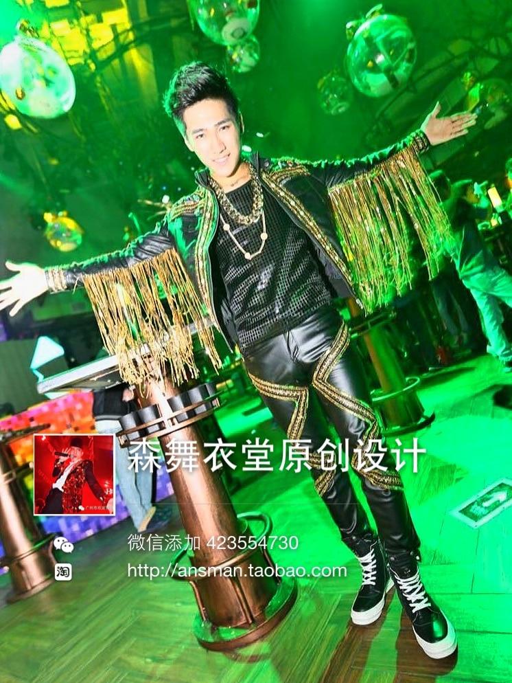 2016 New Bar νυχτερινό κλαμπ τραγουδιστής - Ανδρικός ρουχισμός - Φωτογραφία 4