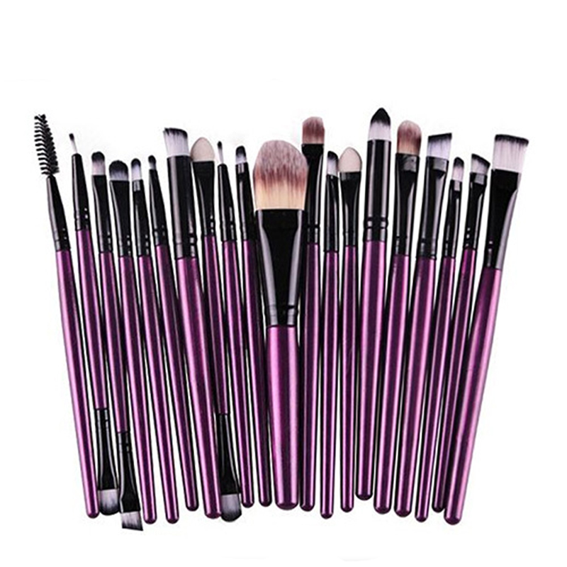 Pro 20Pcs Makeup Brushes Set Powder Beush Blush Foundation Eyeshadow Eyeliner Lip Black Cosmetic Makeup Brush Kit Beauty Tools lumion бра lumion basilia 3201 1w