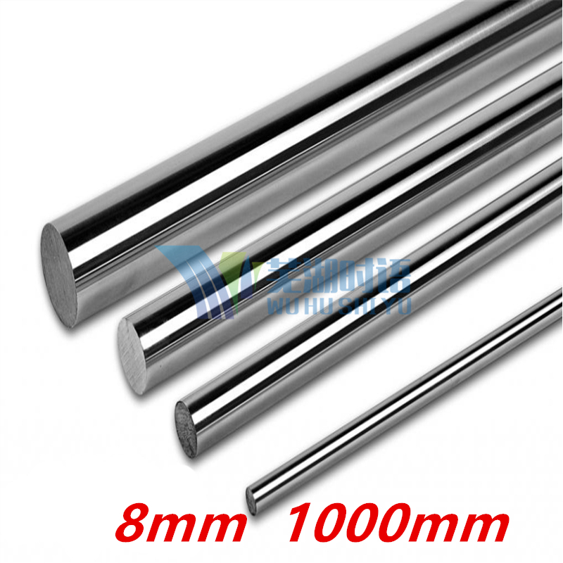 10pcs/lot  8mm linear shaft 1000mm long for LM8UU harden chromed round rod CNC parts 3D printer 8mm linear shaft group 33pcs l350mm 33pcs l405mm 33pcs l420mm for 8mm rod shaft lm8uu