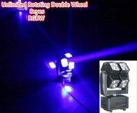 送料無料dmxステージライト8 × 15ワットの4in1 rgbw ledライト用パーティー効果アンリミテッド回転