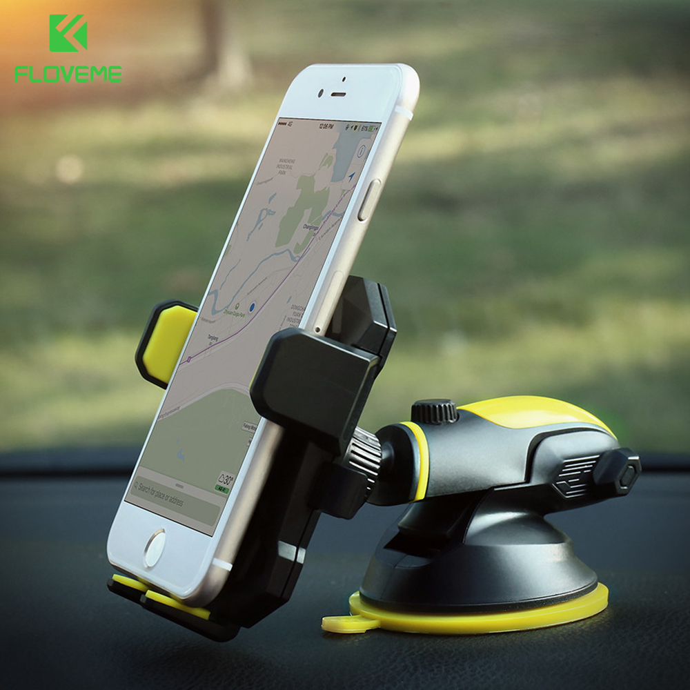 FLOVEME Universal Car Phone Holder For iPhone 7 X Stand For Samsung Galaxy S8 S7 Telescopic Automatic Mobile Phone Hoder Sucker