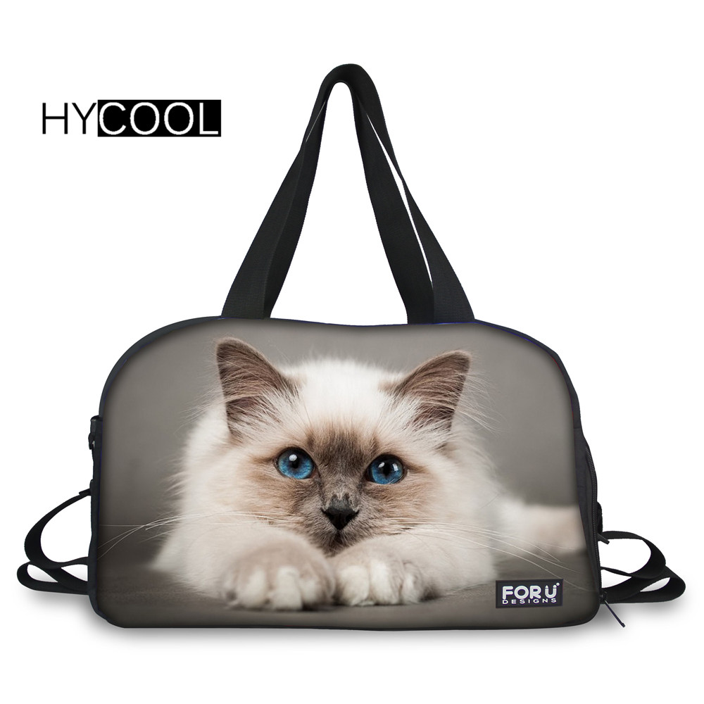 78dd66ff12d3 HYCOOL Halloween Cats Printed Gym Bags For Teens Training Multifunction  Camping Handbag Large Capacity Women Sports Fitness Bags