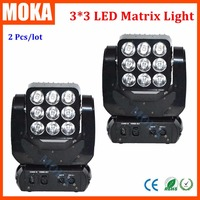 RGB LED Moving Head Matrix Light 4in1 Dmx Lighting Disco DJ Effect Party Lights Stage Master DMX 512 2PCS/LOT