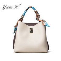 Yeetn.H Casual Tote Bags For Women Crossbody Bag Small Bucket Scarf Compartment Sac Femme Cheap Handbag Wholesale Prices Y2069
