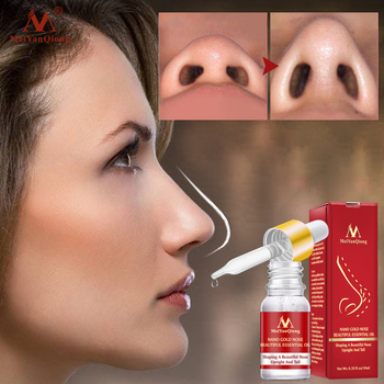 MeiYanQiong Nose Lifting Up Essence Oil Tightening Beauty Nose Care Massage Reduce Narrow Thin Nose Beauty Tool effecttive powerful nosal bone remodeling oil beautiful nose lift up cream magic essence cream beauty nose up shaping product