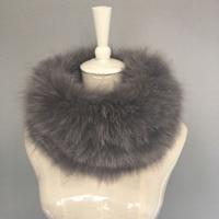 Real Fox Fur Scarf Headband Scarves Neck Warmer natural fox fur Wrap Cape Shawl Poncho snood HN133