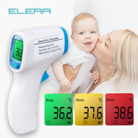 ELERA Thermometer Digital Body Temperature Fever Measurement Forehead Non Contact Infrared LCD IR Thermometer Baby Adult