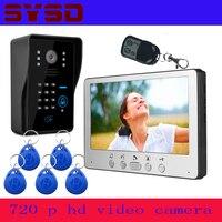 SYSD 7 inç görüntülü kapı telefonu interkom kapı zili kapı telefonu yağmur geçirmez gece görüş ev güvenlik sistemi