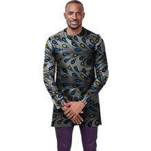 O-neck African shirt men fashion Ankara print dashiki tops custom made long sleeve shirts wedding African clothes