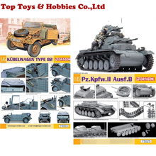 Dragon 75025 1/6 Assembly WWII Germany  Tank Model /Dragon DML 1/6 Scale Kubelwage Type B2 F Collection realts dragon model kit 6394 pz kpfw iii ausf j 1 35 scale