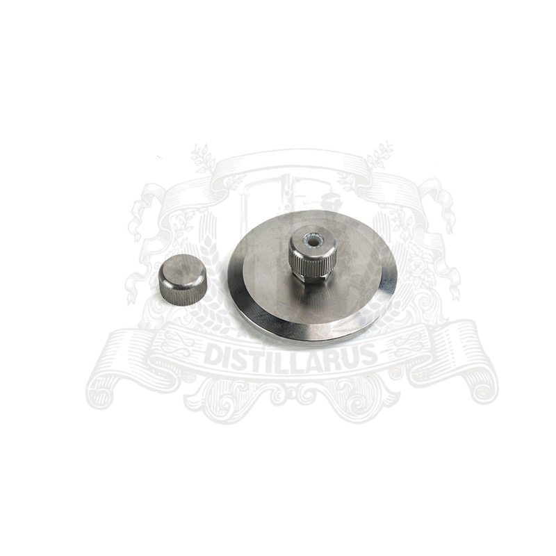 1,5 - 8 Tri-clamp end cap with thermowell  nipple . Stainless steel 3041,5 - 8 Tri-clamp end cap with thermowell  nipple . Stainless steel 304