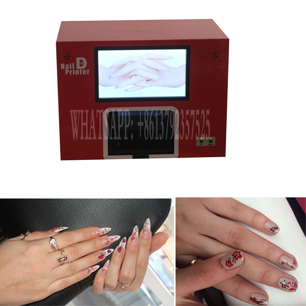 2016 CE approved nail printer with 2 years warranty 5 nails printing machine free shipping 2016 new updated ce approved 5 nails printing machine nails and flower printer