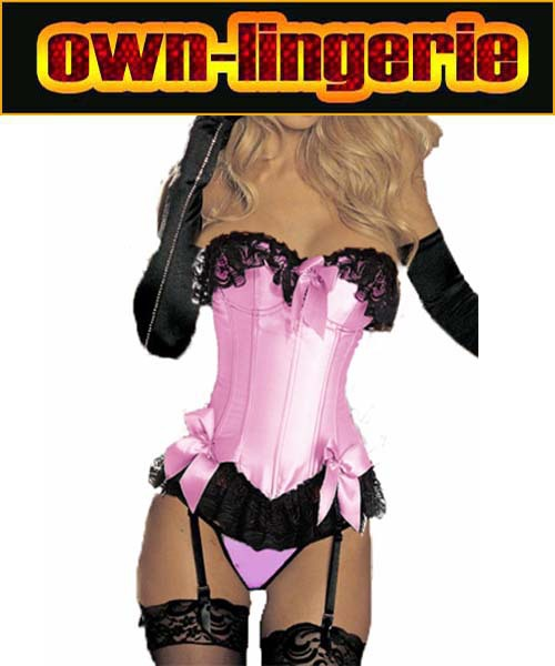 Pink   Corset   Tops   Bustier   Slimming Overbust Corselet Sexy Women   Corsets   And   Bustiers   bow