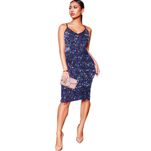 2019 spring new womens sequin dress fashion strap sexy nightclub club party