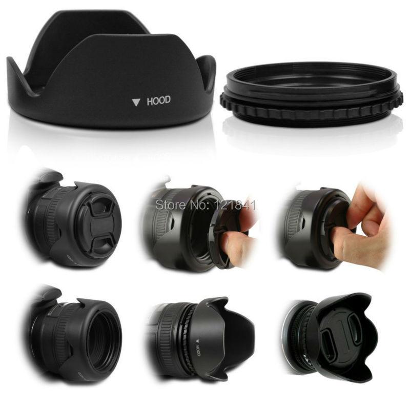 Yüksek Kalite 58 MM Canon kamera için Geri Dönüşümlü Petal - Kamera ve Fotoğraf - Fotoğraf 6