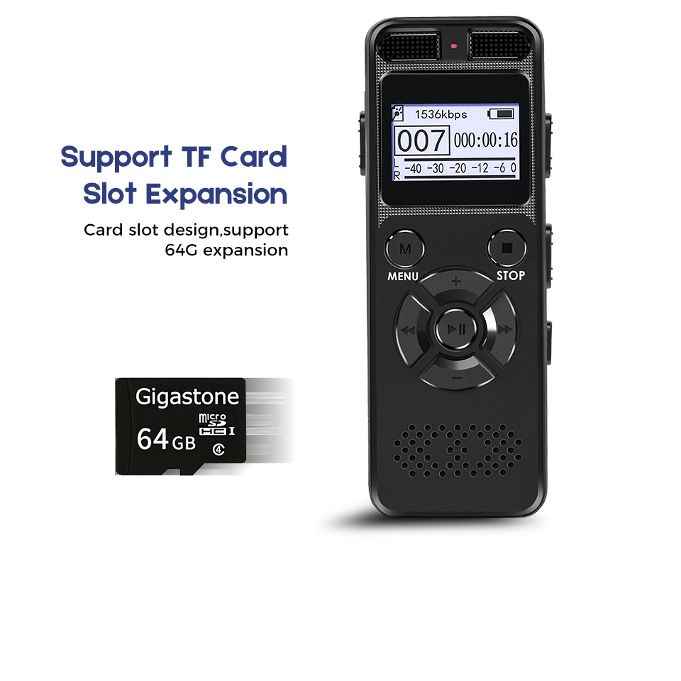 1536KPS High Definition Dictaphone Digital Voice Recorder Registrar Audio Video Sound Microphone Stealthily Device Secret Player