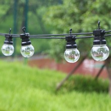 Guirnalda de luces led para exterior, 13m, 20 bombillas, resistente al agua, decoración del banquete de boda, Patio trasero