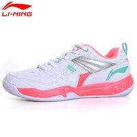 Li Ning New Women's Badminton Training Shoes Breathable Anti slip LiNing Ladies Sports Shoes Sneakers AYTM072 1H