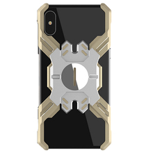 купить Metal Bumper Frame Case for iPhone XS Max,Heavy Duty Armor Shockproof Aluminum Alloy Protective Cover Shell по цене 1627.63 рублей