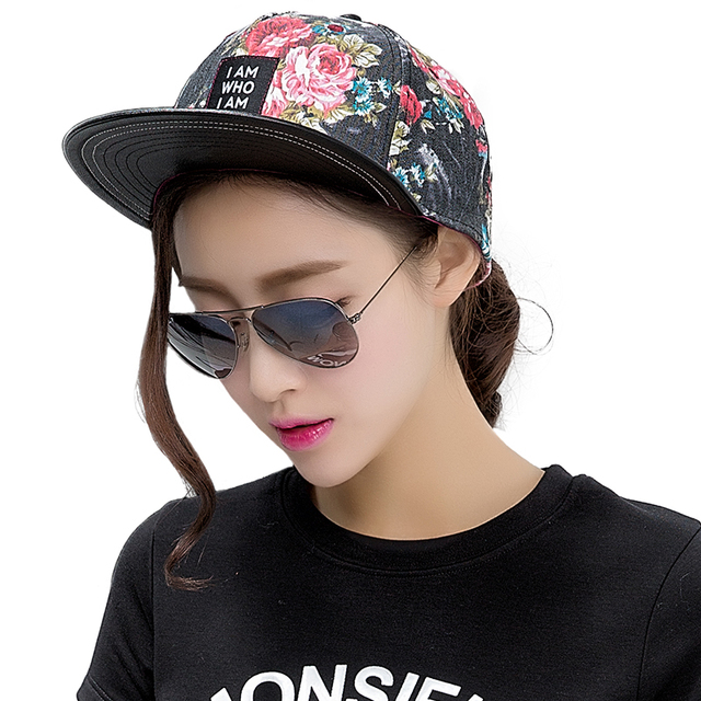 Womens Cotton Army Baseball Hat 5 panel Snapback Adjustable Cap Outdoor Hip Hop Hats Trucker