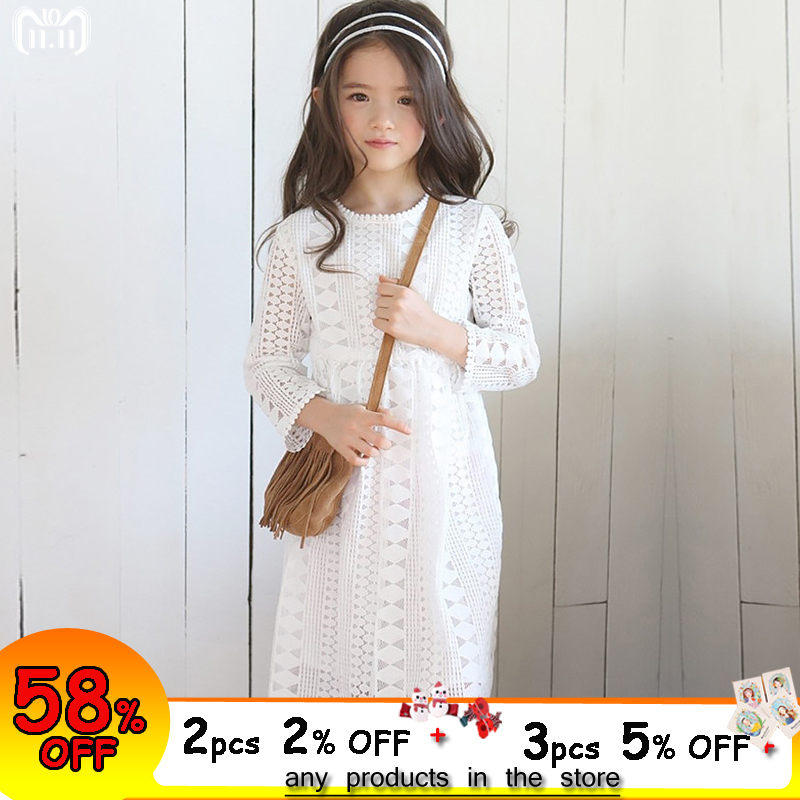Girls Lace Dress Long Sleeve Fall Winter Little Girl Dress 4 5 6 7 8 9 10 11 12 years Kids Princess Dress Teenage Girls Clothing elegant new girls dress long sleeve 7 8 9 10 11 12 years flare sleeve purple lace party knee dresses kids princess costume 50m8a