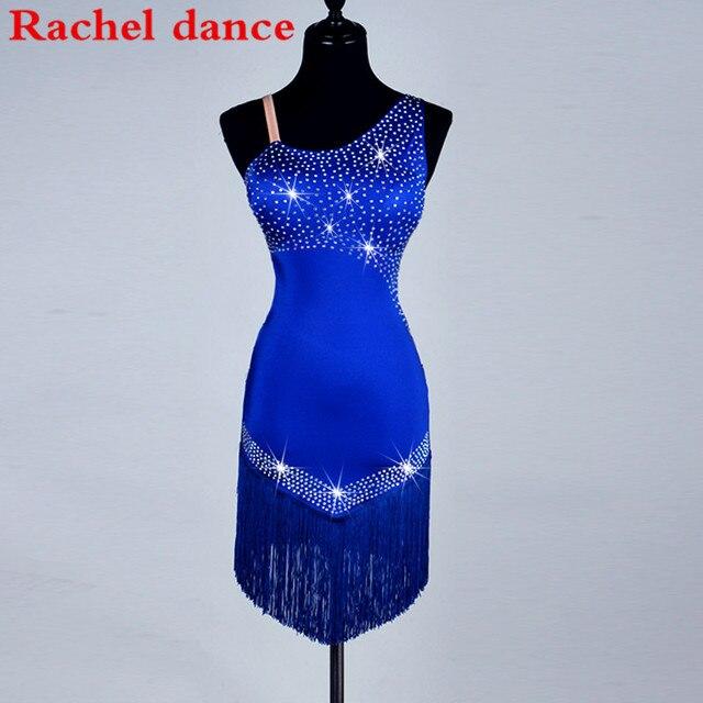 Shoulder Latin Dance Dress Fringe Women Ballroom Dancing Dresses ...