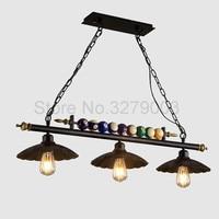 Ретро промышленные подвесные светильники Ресторан Бар Кафе подвесной светильник, винтажный Железный Абажур украшения бассейн кулон с табл