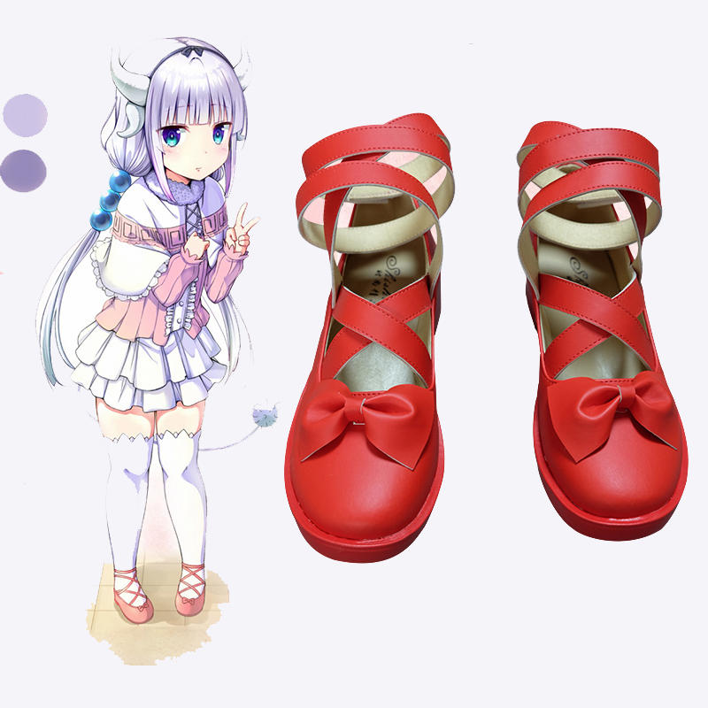 New Anime Kobayashi san Chi no Maid Dragon Cosplay Shoes Miss Kobayashi's Dragon Maid Kanna Kamui Cosplay Shoes