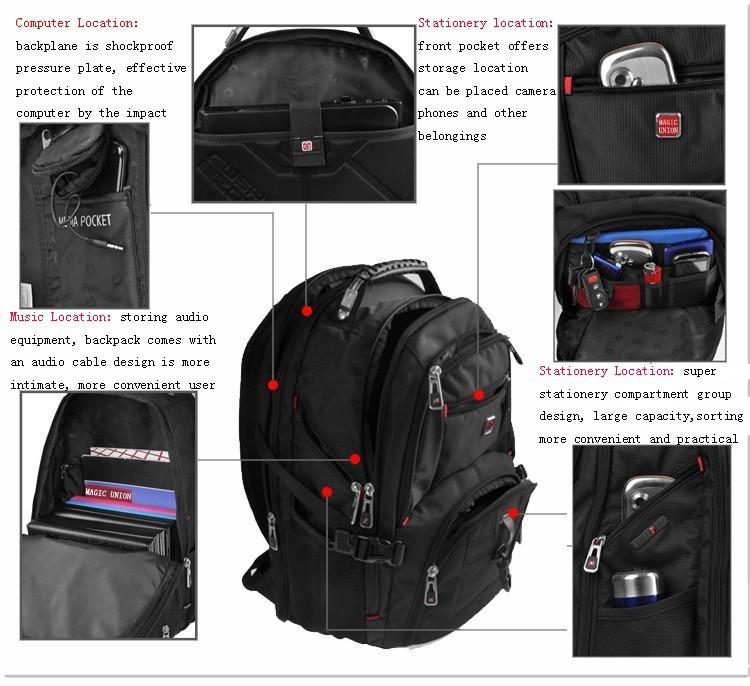 MAGIC UNION Oxford Men Laptop Backpack Mochila Masculina 15 Inch Man's Backpacks Men's Luggage & Travel bags Wholesale 8