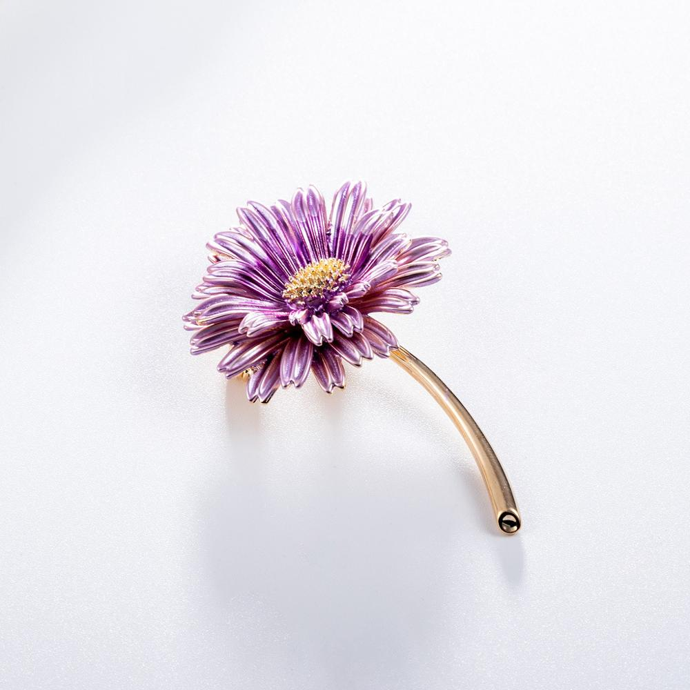 CINDY XIANG Enamel Daisy Pins Summer Fashion Brooch Women and Men Unisex Brooches Sunflower Accessories 3 Colors Choose New 2021 6