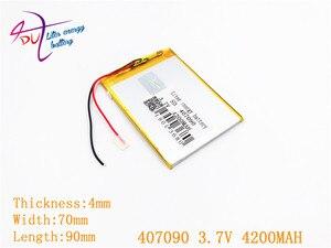 Image 1 - 407090 3.7 V 4200 MAH Polymer Cho Máy Tính Bảng Irbis TZ56 TZ49 3G TZ709 TZ707 7043XD 407292 U25GT