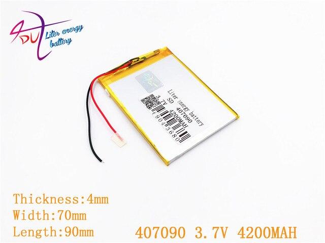 407090 3.7 V 4200 MAH Polymer Cho Máy Tính Bảng Irbis TZ56 TZ49 3G TZ709 TZ707 7043XD 407292 U25GT