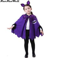 High Quality Little Bat Caps With Headdress Costume Cosplay Family Cute For Girl Children's Day Beautiful Princess Purple Cloak