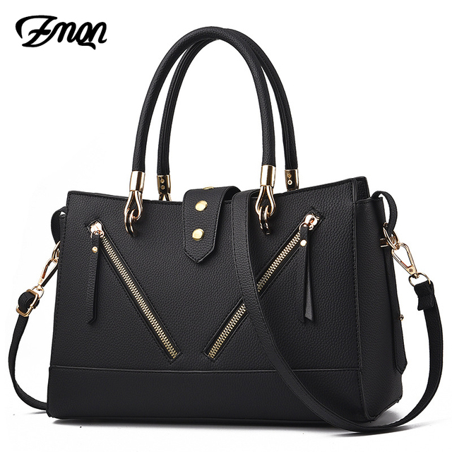 0babaf0e9f12 US $21.79 50% OFF|ZMQN Fashion Bags Handbags Women Famous Brands Leather  Ladies Hand Bag For Work 2018 Luxury Handbags Women Bags Designer Bolsas-in  ...