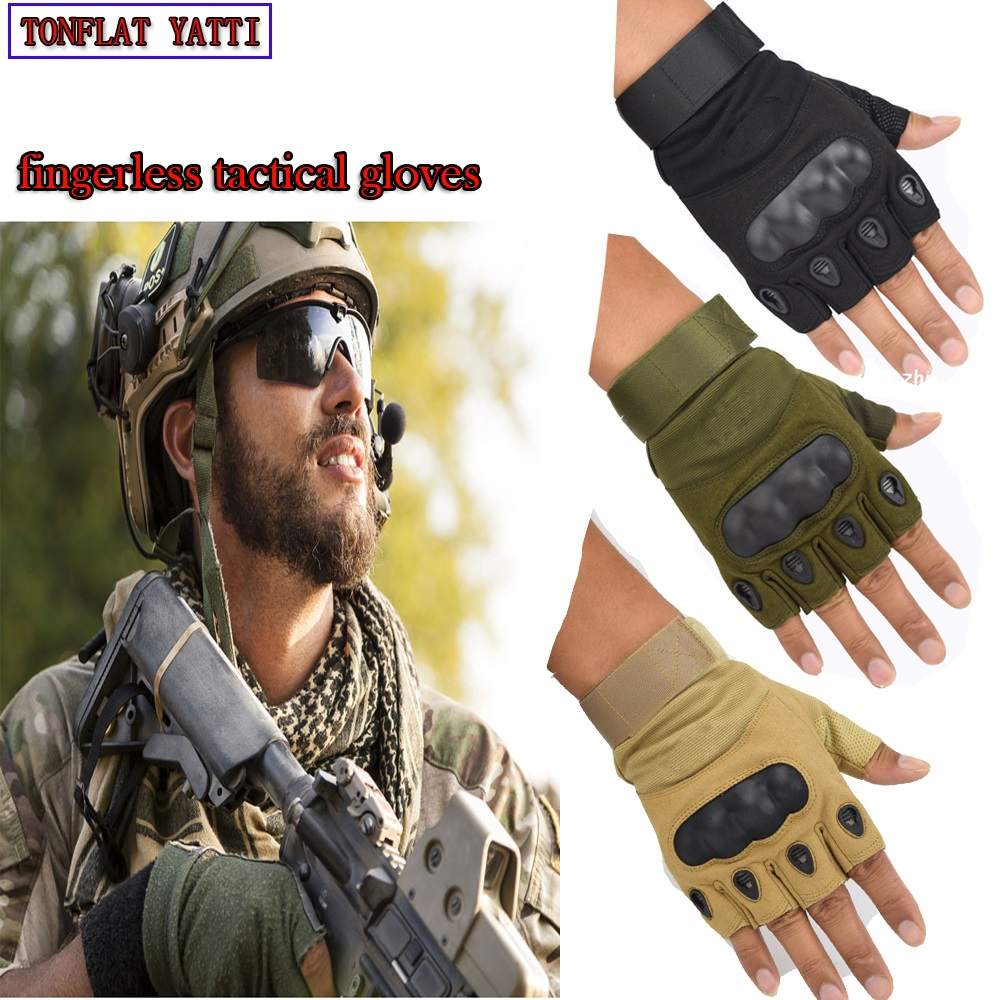 Men Military Army Leather Gloves Half Finger Tactical Combat Shooting Windproof Special Forces gloves Luvas tatico 2018 New fitness gloves summer sun gloves riding sports black hawk military tactical cs special forces leather semi fingertips