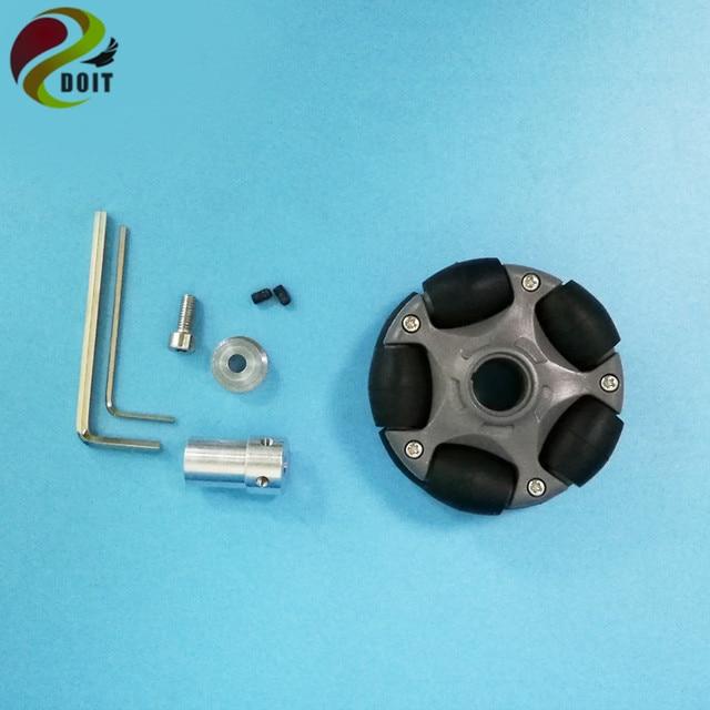 DOIT 4pcs/lot 58mm Omni Wheel for Arduino Robot Kit L E G O NXT and Servo Motor with Plastic Universal Hubs for DIY/ Robot study