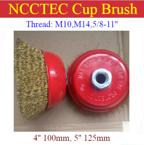 Steel Crimped Wire Cup Brush for Deburring polishing steel Cleaning Rust/0.3mm copper coating steel wire fits Angle Grinders