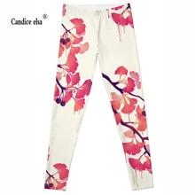 Hot sexy fashion  gingkgo leggins pants digital printing of leggings-limited for women drop shipping