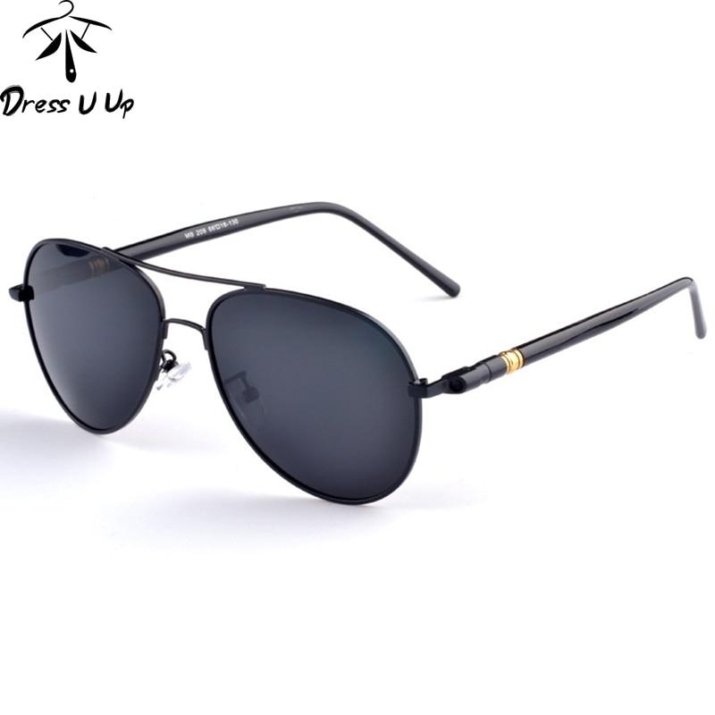 Dressuup 2018 marca diseñador polarizado Gafas de sol hombres piloto Gafas  de sol masculino Sol Gafas para hombres oculos gafas de sol Masculino b14d005d34