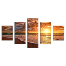 5pieces / set of scenery sunset sea view canvas print painting modern still life earth mural art home decoration NEW-HOT (44)