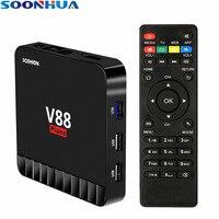 SOONHUA V88 Piano PC 4GB RAM 16GB ROM Smart Android 7 1 TV Box RK3328 Quad