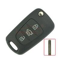 Flip remote key 3 taste 434 Mhz für Hyundai i20 i30 auto-schlüssel Ersatz Remote kigoauto