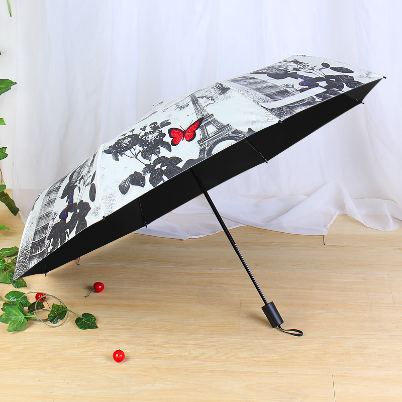 2018 Paris Towel Umbrella Big Fashion High Quality Business Umbrellas Butterfly parasol men Automatic Umbrella Male Paraguas