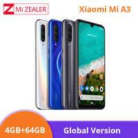 Globale Versione Xiao mi mi A3 mi A3 4GB 64GB Smartphone 4030mAh 6.088 Snapdragon 665 Octa core AMOLED Schermo 48MP Macchina Fotografica Xio mi