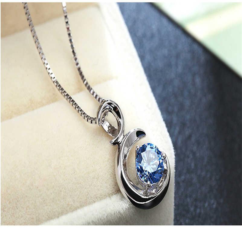 หินธรรมชาติ Sapphire จี้ S925 Sliver Amulet Healing จี้ลูกตุ้ม peridot Bizuterias chalcedony bijoux หรืออัญมณี