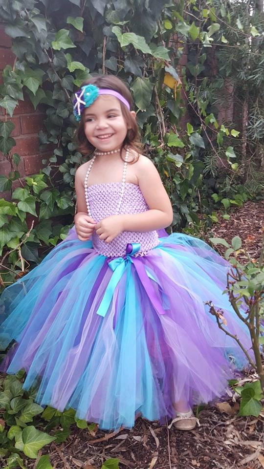 USA birthday evening prom cloth purple tutu tulle baby bridesmaid flower girl wedding dress fluffy ball gown long party dress ball gown sky blue open back with long train ruffles tiered crystals flower girl dress party birthday evening party pageant gown