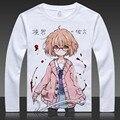 Kyokai no Kanata Print T-shirts Kuriyama Mirai Long Sleeve Full T Shirt Kanbara Akihito Tops Autumn Tees Clothes