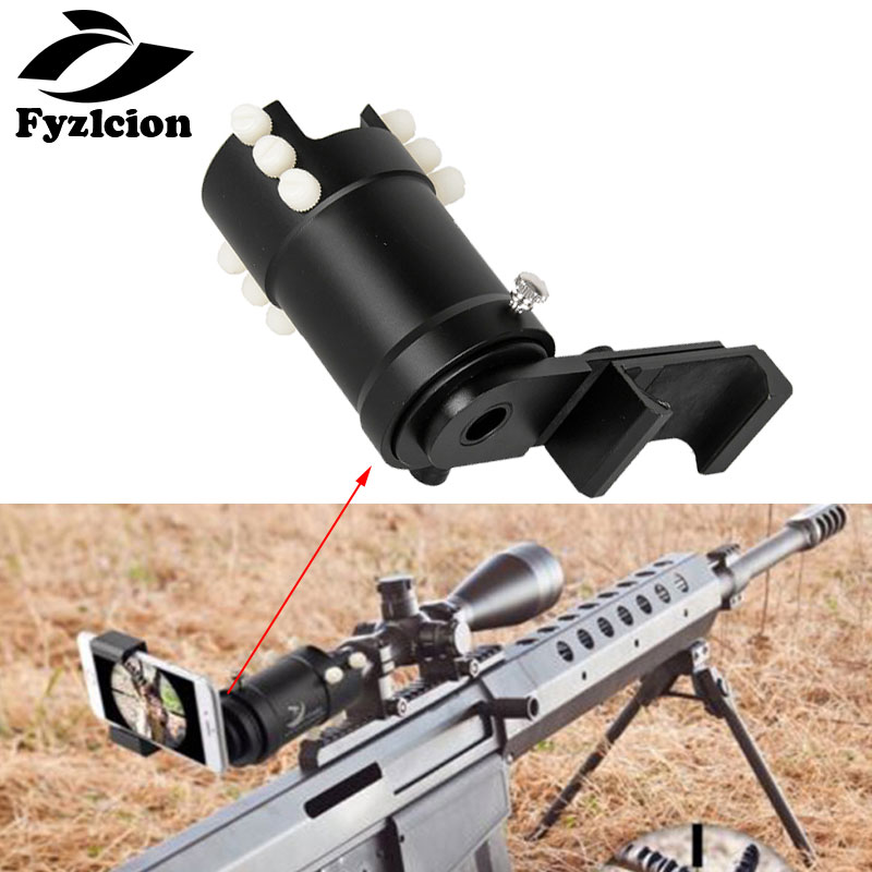Universal Rifle Scope Metal Mount System Adapter Connecting with Mobile Phone Camera for Photos Record