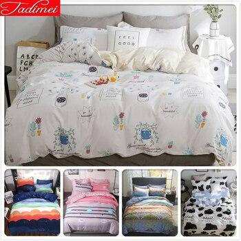 New Soft Quilt Duvet Cover 3/4 pcs Bedding Set Kids Child Adult Bed Linen Twin Single Full Queen Super King Size 150x200 180x220